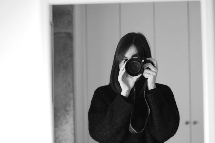 autoretrato en blanco y negro