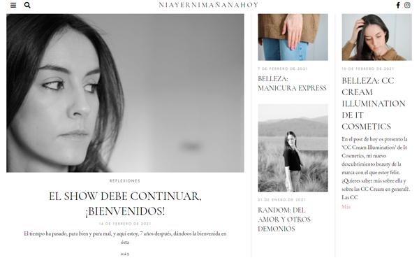 Recorte de la web de Niayernimañanahoy